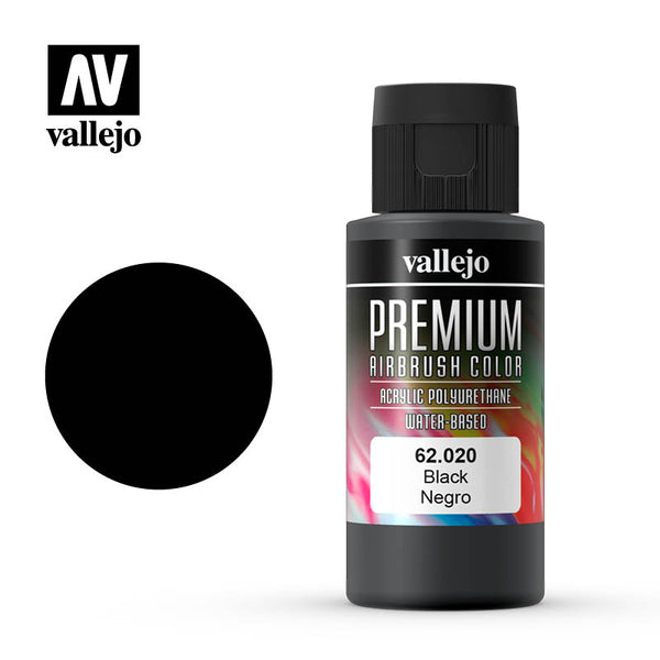 62.020 -  Black  - Opaque  - Premium Airbrush Color - 60 ml