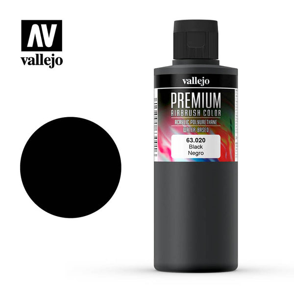 63.020 -  Black  - Opaque  - Premium Airbrush Color - 200 ml