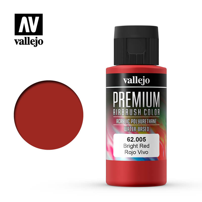 62.005 - Bright Red - Opaque  - Premium Airbrush Color - 60 ml