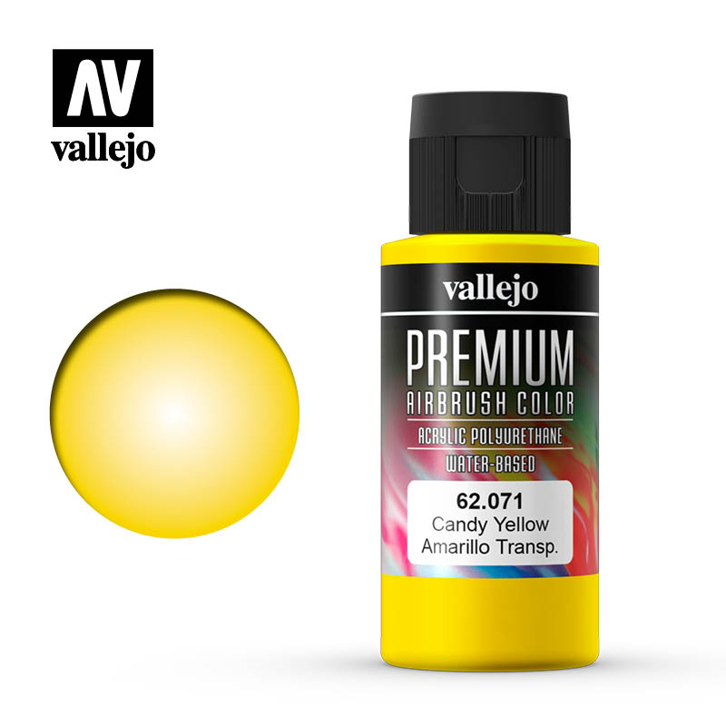 62.071 - Candy Yellow  - Premium Airbrush Color - 60 ml