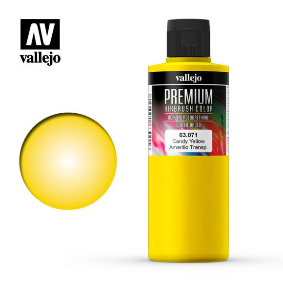 63.071 - CANDY YELLOW  - Premium Airbrush Color - 200 ml