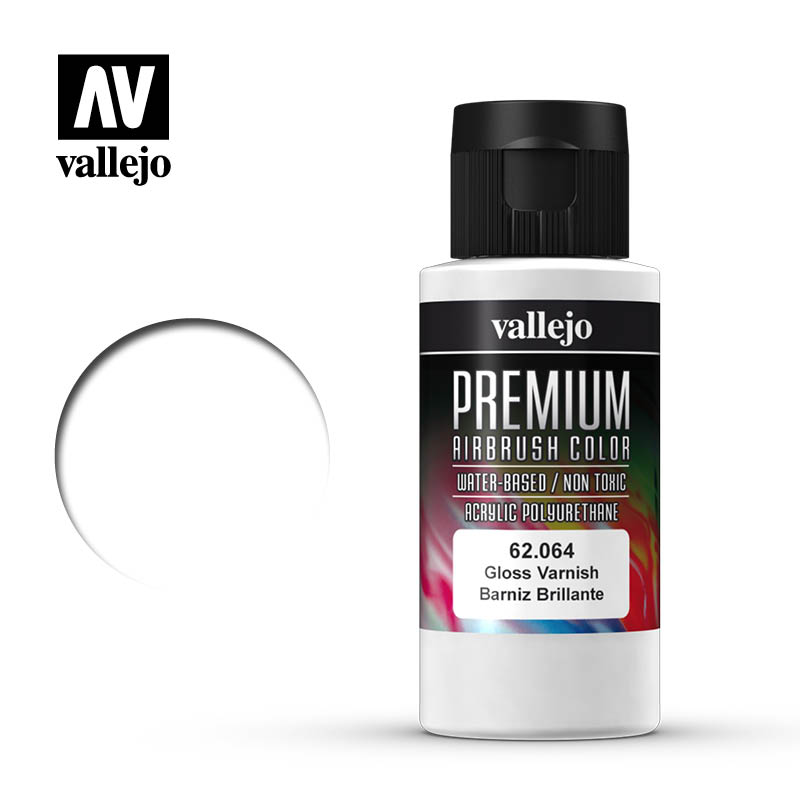 62.064 - Gloss Varnish - Auxilliary - Premium Airbrush Color - 60 ml