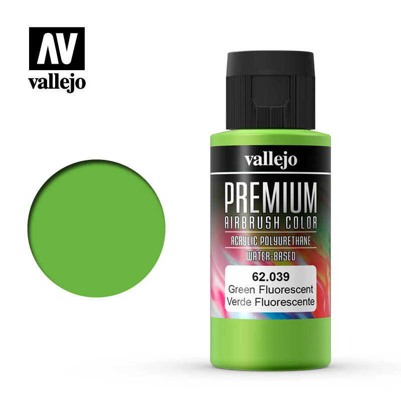62.039 - Green - Fluorescent - Premium Airbrush Color - 60 ml