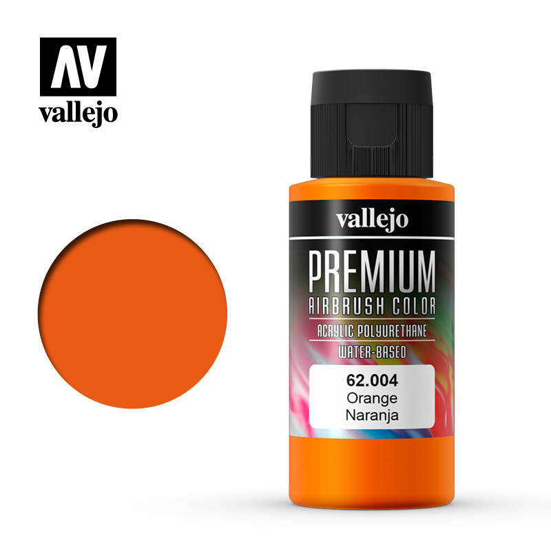 62.004 - Orange - Opaque  - Premium Airbrush Color - 60 ml