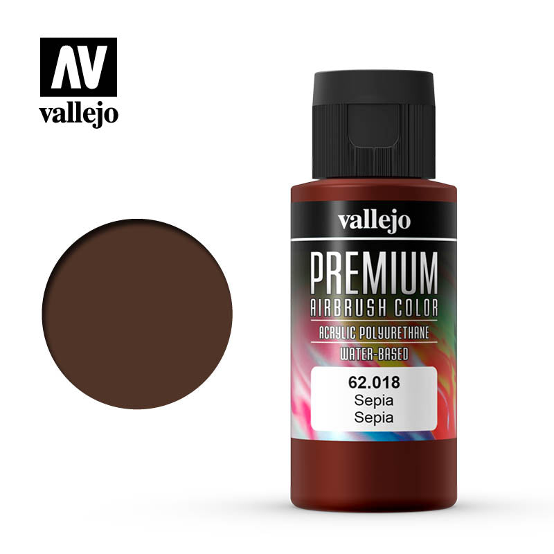 62.018 - Sepia  - Opaque  - Premium Airbrush Color - 60 ml