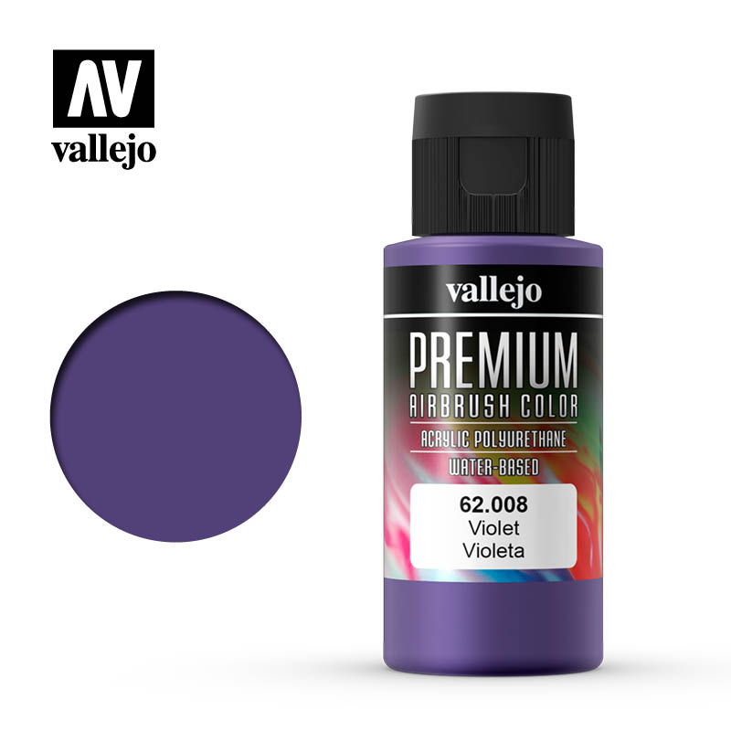 62.008 - Violet - Opaque  - Premium Airbrush Color - 60 ml