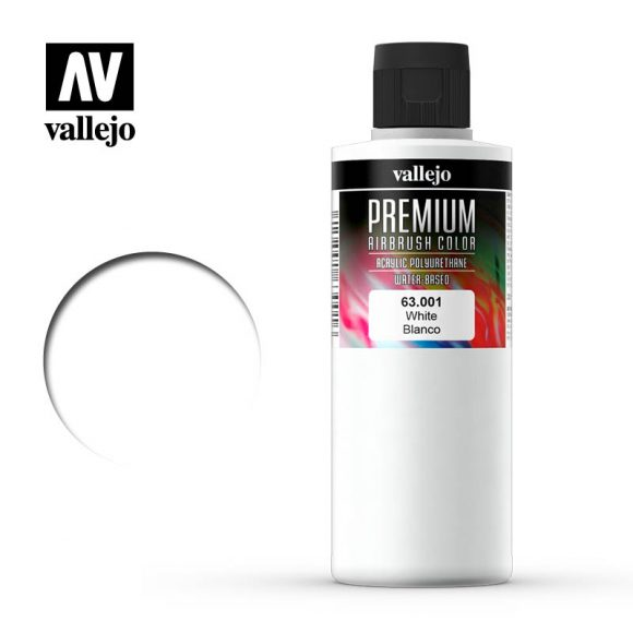 63.001 - Premium White - Premium Airbrush Color - 200 ml