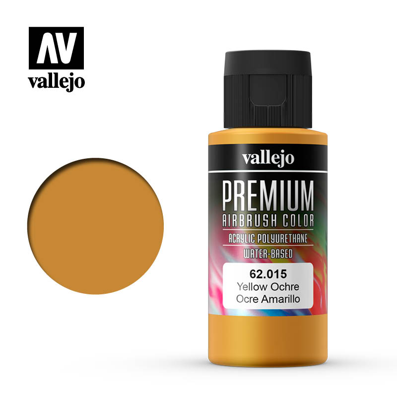 62.015 - Yellow Ochre  - Opaque  - Premium Airbrush Color - 60 ml