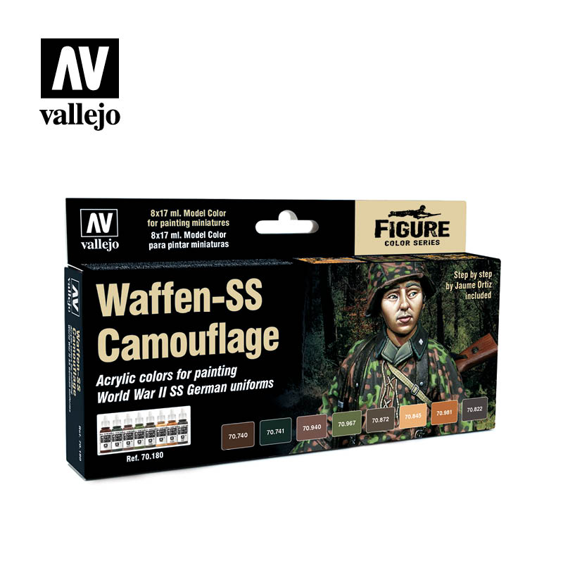 70.180  Waffen SS Camouflage (8) - Model Color Set - Supernova Studio