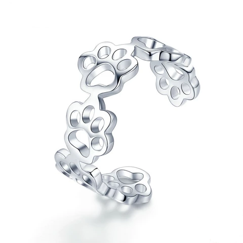 Silver Cat Ring <br/> Cat paw ring - The Cat Paradise