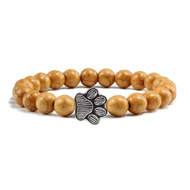 Cat Bracelet - Brown beads | The Cat Paradise