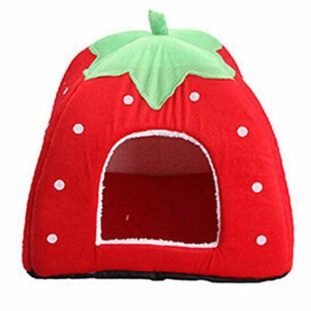 Cat Bed Cave <br/> Red Strawberry - The Cat Paradise