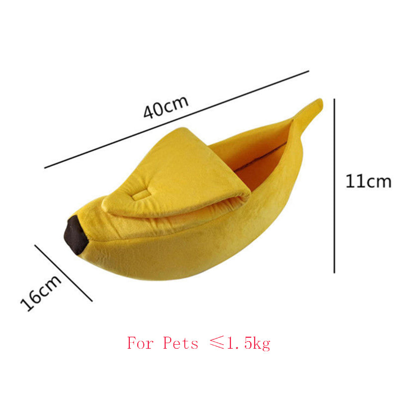 banana bed for cats - Yellow - The Cat Paradise
