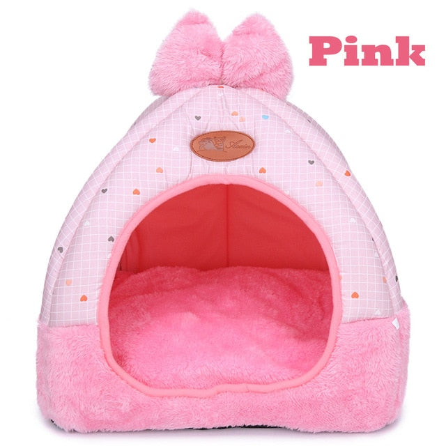 Cat Bed Cave <br/> Small Cat House Pink - The Cat Paradise