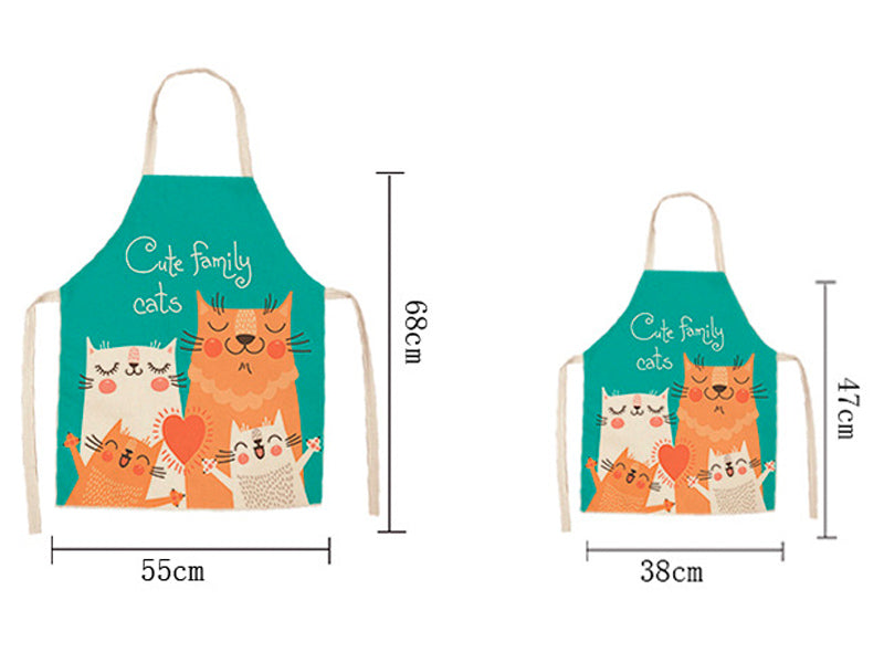 Cat Apron <br> Cartoon Black Cat - The Cat Paradise