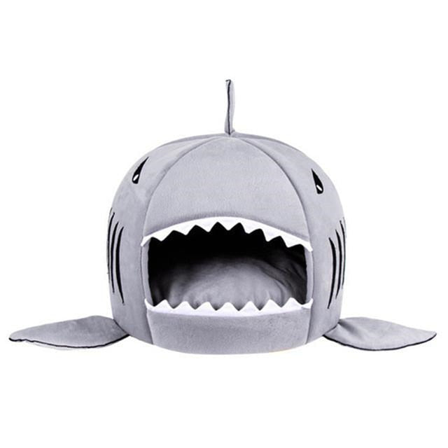cat bed shark mouth