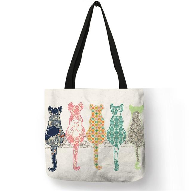 Cat Tote Bag <br> Multi-coloured cats - The Cat Paradise