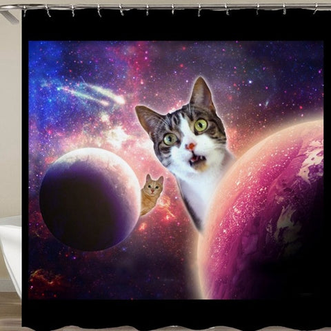 Galactic Cats Shower Curtain