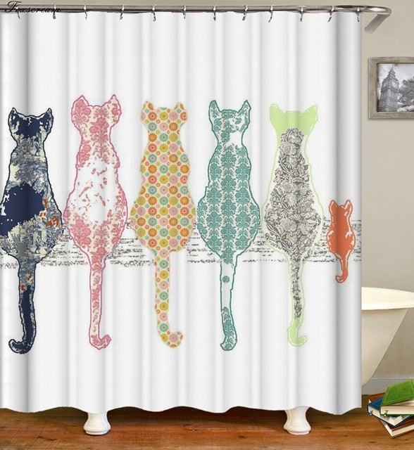 Back Cats Shower Curtain