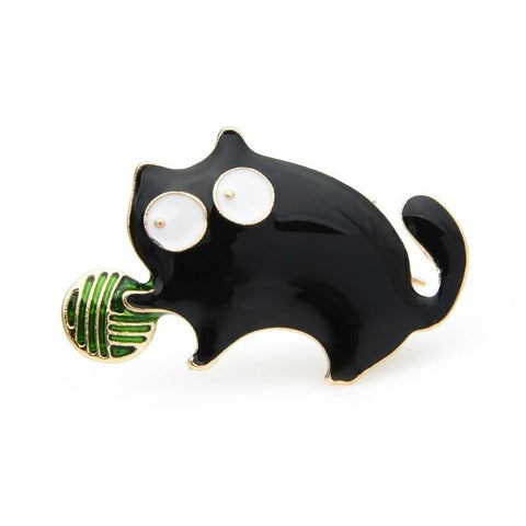 Cat Brooch - Black cat player