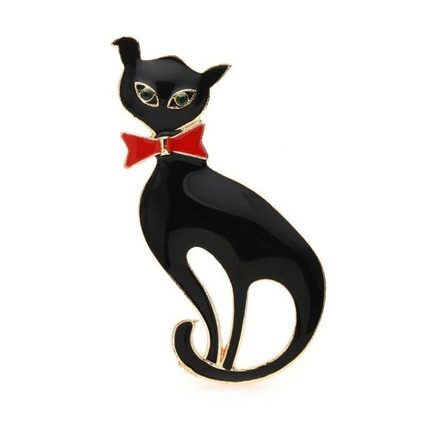Cat Brooch - Cat with bow tie