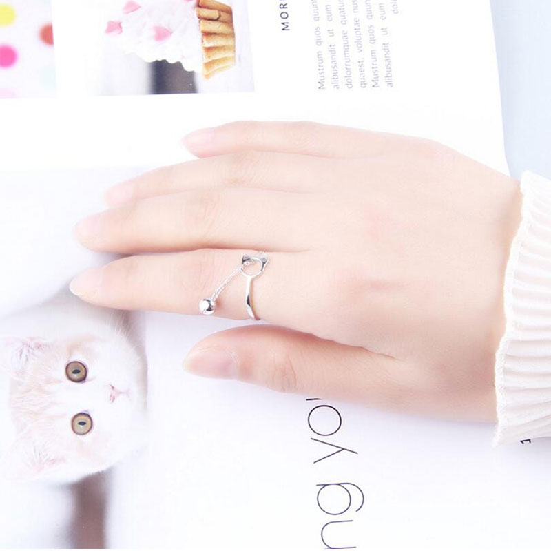 Silver Cat Ring <br> Bell - The Cat Paradise