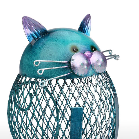 Cat Piggy Bank <br> Blue cat - The Cat Paradise