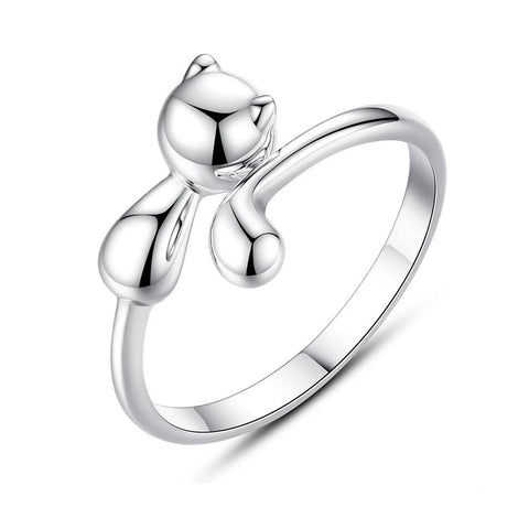 Silver Cat Ring <br/> Lovely Cat - The Cat Paradise