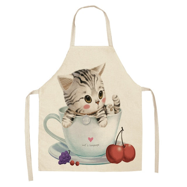 Cat Apron <br> Cat in a cup of tea - The Cat Paradise