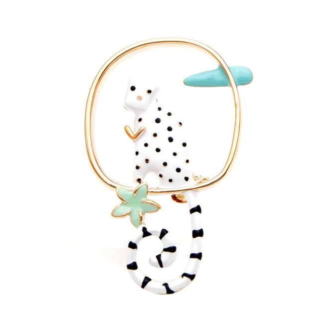 Cat Brooch - Long-tailed cat - The Cat Paradise