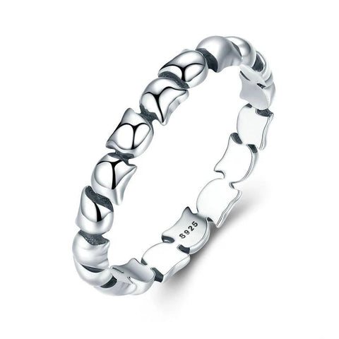 Silver Cat Ring <br/> Cat Stackable - The Cat Paradise