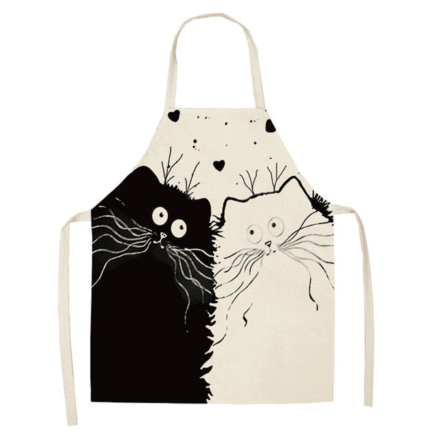 Cat Apron <br> Black and white cats in love - The Cat Paradise
