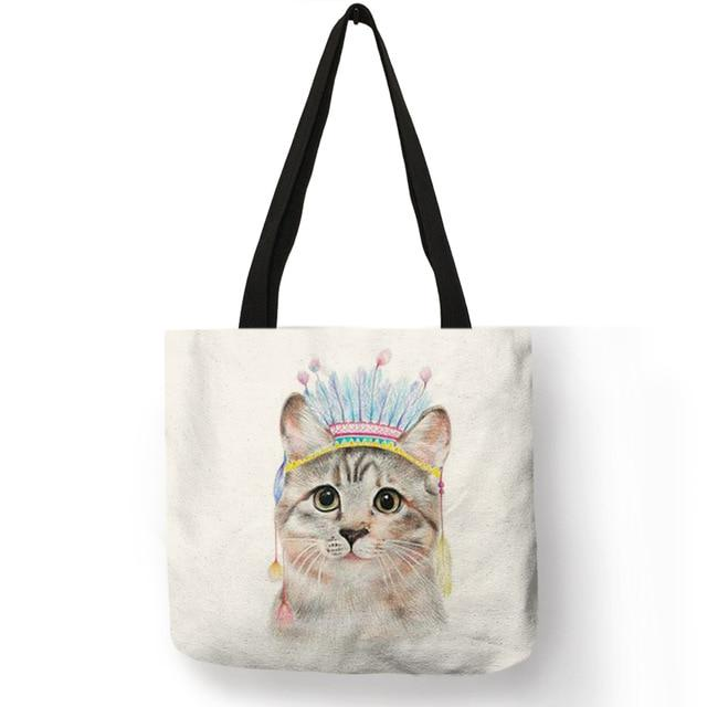 Cat Tote Bag <br> Indian cat - The Cat Paradise