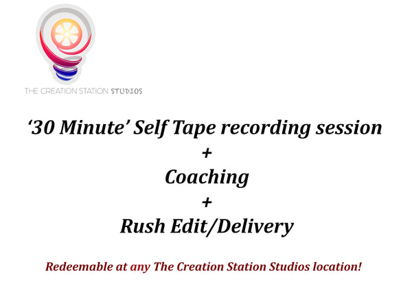 'Self Tape Audition' Recording Session - Discount Packages - Retailopolis