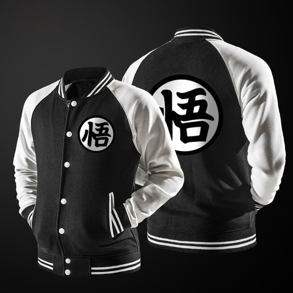 Dragon Ball Z Goku Varsity Jacket/Coat (with Hoodie Option) - Retailopolis