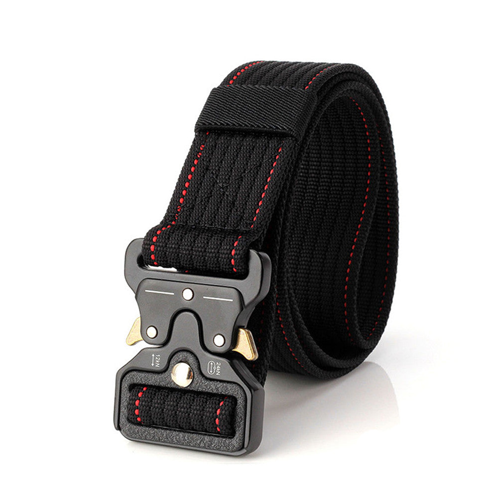 Adjustable Nylon Tactical Military Belt with Quick Release and Heavy Duty Metal Buckle - Retailopolis