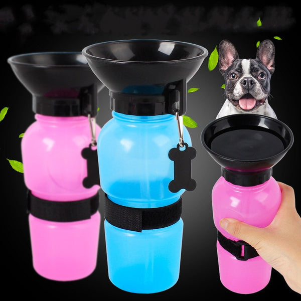 Pet Water Bottle Foldable Dog Dispenser with Carry strap - Retailopolis