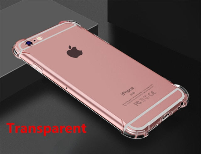 Super Shockproof Clear Soft Case for iPhone 5 5S SE 6 7 8 Plus 6SPlus 7Plus 8Plus X S R - Retailopolis