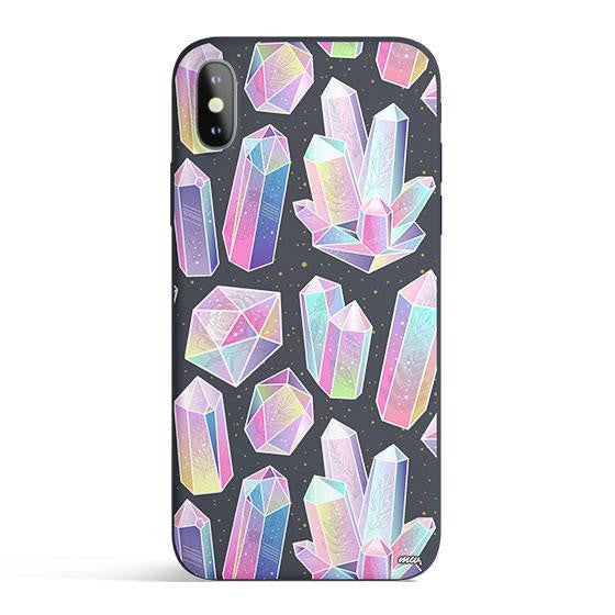 Matte TPU Colorful Crystals Cellphone Case