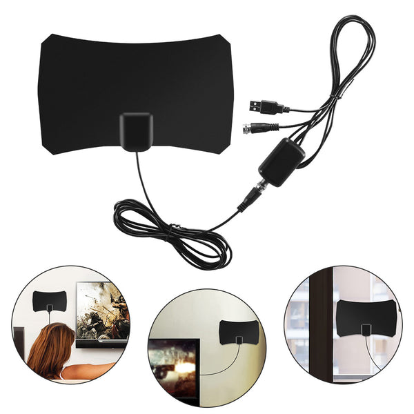 1080P Digital TV Antenna with 50 Mile Range and USB Powered Amplifier - Retailopolis
