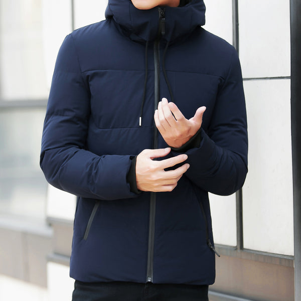 Men's Trendy Casual Hooded Collar Fashion Winter Coat (Slim fit) - Retailopolis