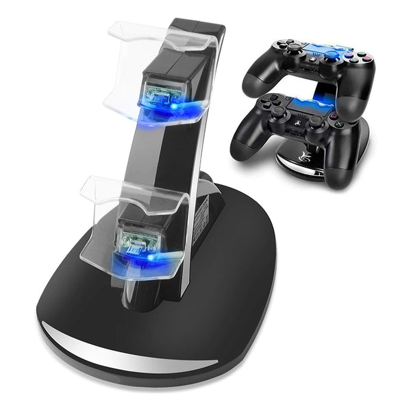 PS4 DualShock Charging Station Playstation 4 Controller Charger Dock Stand Cradle for Sony Playstation 4 & Slim