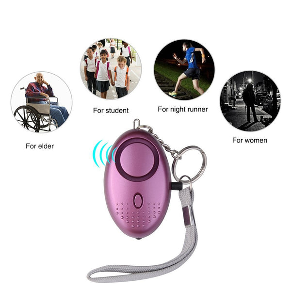 Personal Emergency Safety Alarm with LED Flashlight for Women Night Workers/Kids Elderly - Retailopolis