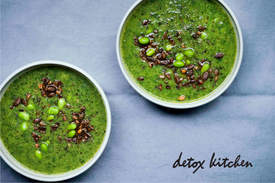Detox Kitchen: Super Green Soup With Broccoli & Ginger