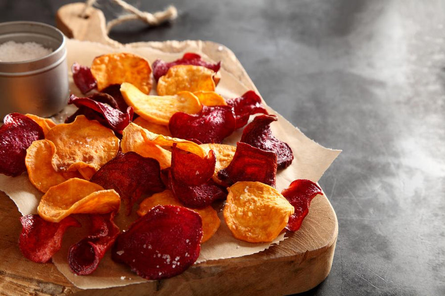 Vegetable Crisps With Curry Salt