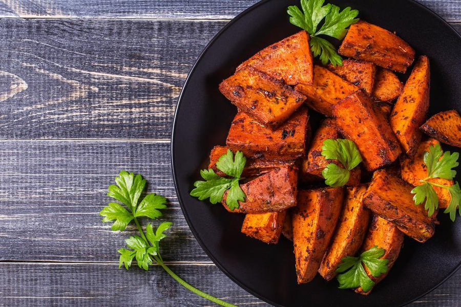 Baked Spiced Sweet Potato Wedges