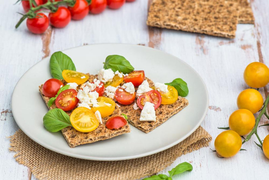 Cherry Tomatoes & Feta On Crispbread