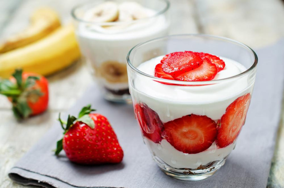 Greek Yogurt & Strawberries