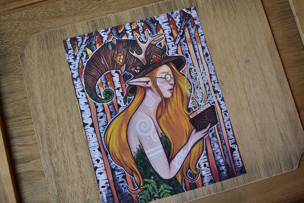 *Discounted* Bookworm Faun - 8x10