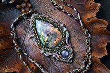 Labradorite with Ruby Necklace